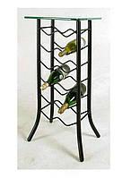 Подставка-столик для вина кованая -101.