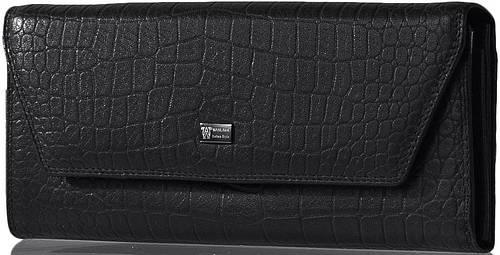 Изысканный женский кошелек из натуральной кожи WANLIMA (ВАНЛИМА) W62043790166-black черный
