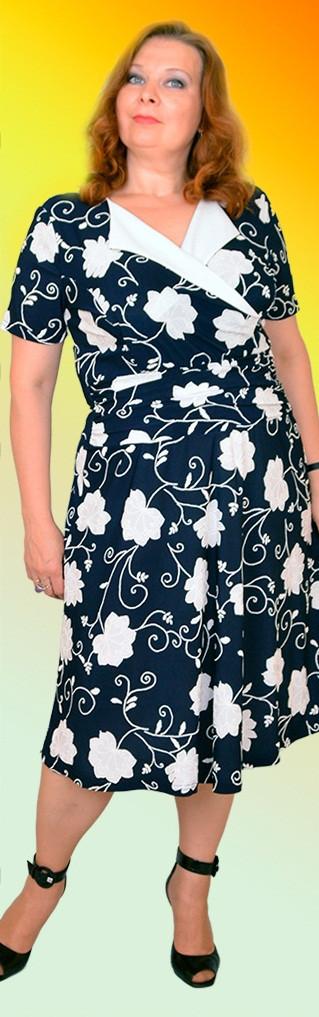 Платье с рапортом