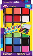 ПОДАРОК Набор красок VGR (Италия) 18 цветов+ кисточка в комплекте
