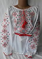 Детская сорочка вышиванка для девочки в украинском стиле Орнамент
