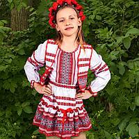 Детский вышитый костюм тройка для девочки