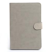 [ Apple iPad mini 1 2 3 ] Кожаный чехол-книжка для планшета Айпад мини серый