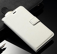 [ Samsung Galaxy Core 2 G355H ] Кожаный чехол-книжка для телефона Самсунг белый