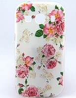 [ Samsung Galaxy Ace Style LTE SM-G357FZ ] ТПУ силиконовый чехол для телефона Самсунг нежные розы