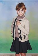 Детский школьный жакет, пиджак для девочки