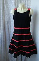 Платье модное элегантное летнее черное миди бренд Sandro Ferrone р.48-52