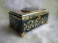 Шкатулка Черное золото ручной работы