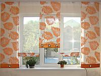 Японские панельки Папоротник оранж 2,50м