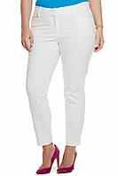 Брюки женские узкие дудочки , белые джинсы, стрейчевые , до щиколотки, бр 001, 48-56.
