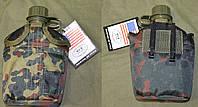 Армейская фляга USA в  термочехле Flecktarn