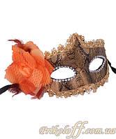 """Маскарадная маска """"Змеиная кожа"""", коричневая"""