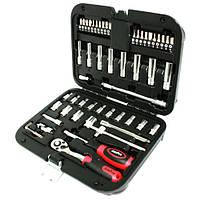 Комплект инструмента, набор головок и аксессуаров 1/4-биты, трещетка, удлинитель, 54 предметов, AmPro, T46151