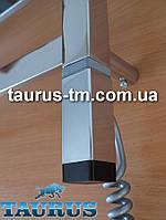 Стальной ТЭН ONE квадратный 30x30: регулятор +таймер, под пульт ДУ. Хром. Польша