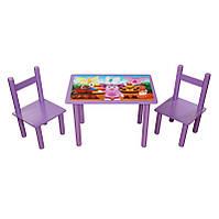 """Стол для детей и два стульчика """"Лунтик"""""""