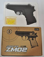 Детский игрушечный пистолет ZM 02 металл+пластик