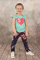 Детская футболка-топ из вискозы для девочек 2- 7 лет (К03-00581-0)