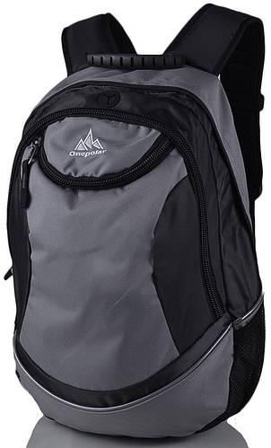 Городской стильный рюкзак молодежный 25 л.Onepolar W1675-grey серый