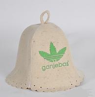 Шапка для бани и сауны войлочная Ganjebas