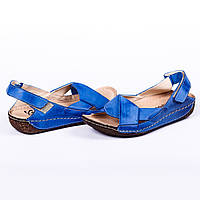 Босоножки женские Kampa (модные, летние, синие)