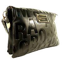 Кожаная сумочка, клатч Marc Jacobs 18045 черная на плечо