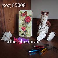 Чехол на Lenovo A850 оригинальная панель накладка с рисунком куст роз
