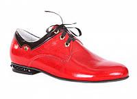 Туфли для девочки кожаные красные ТМ Каприз раз.32