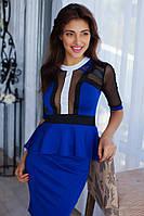 Женский юбочный костюм + блуза с баской