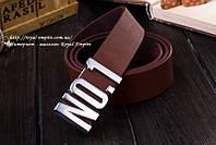 """Модный ремень """"No.1"""", коричневого цвета."""