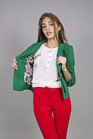 Молодежный яркий классический приталенный пиджак , фото 1
