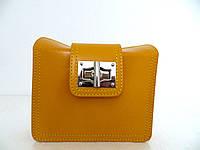 Красивая маленькая женская сумочка-клатч 100% кожа Желтый