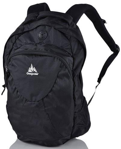 Городской молодежный практичный рюкзак 22 л. Onepolar (Ванполар) W1287-black черный