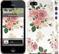 """Чехол на iPhone 5s цветочные обои м1 """"2293c-21"""""""