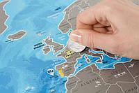 Scratch map: Discovery Map World настенная скретч - карта в подарочном тубусе  на английском языке