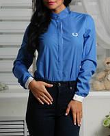 Модная женская блузка, хлопковая рубашка, до 48 размера