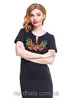 Красивая женская футболка вышиванка из качественного трикотажа