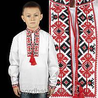 Нарядная детская сорочка вышиванка для мальчика с длинным рукавом