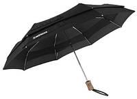 Зонт автоматический телескопический черный WENGER W1000