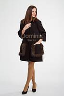 Пальто, отделка мехом чернобурки
