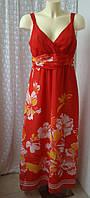 Платье женское сарафан в пол летний макси бренд Debenhams р.48