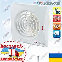 Вентс 100 Квайт В со шнурком - бесшумный вентилятор в ванную