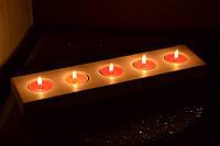 Деревянный подсвечник на 5 свечей
