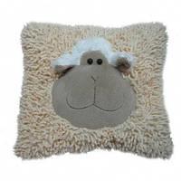 Мягкая игрушка овечка подушка кремовая 40 см