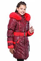 Теплый зимний пуховик для девочки от производителя
