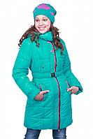 Куртка зимняя детская с шарфом для девочки