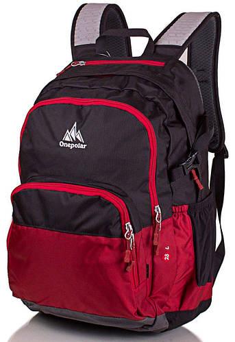 Удобный женский рюкзак 28 л. ONEPOLAR (ВАНПОЛАР) W1988-red красный