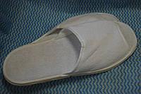 Тапочки махровые белые с нескользящей подошвой