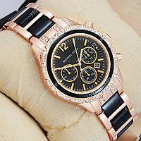 Часы женские наручные Michael Kors crystal Pink gold-black/Black