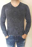 Стильный мужской котоновый свитер