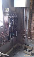 Котельная в частном доме - твердотопливный котел OPOP и конденсационный котел Vaillant